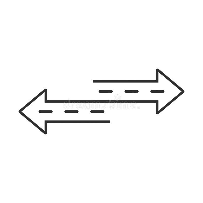 o sentido das setas dois do vetor recarrega o ícone com estilo da rua ilustração stock