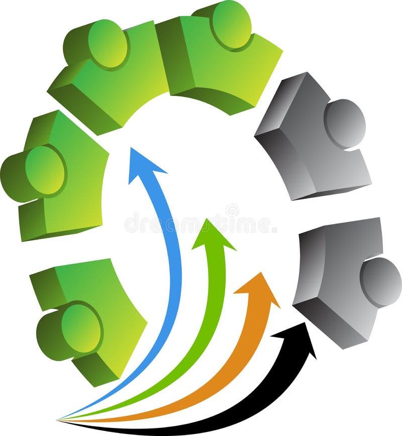 O ser humano alinha o logotipo ilustração stock