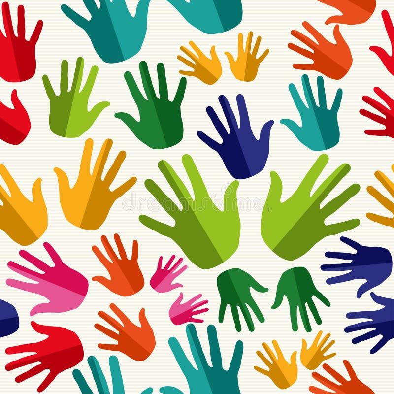O ser humano da diversidade entrega o teste padrão sem emenda. ilustração do vetor