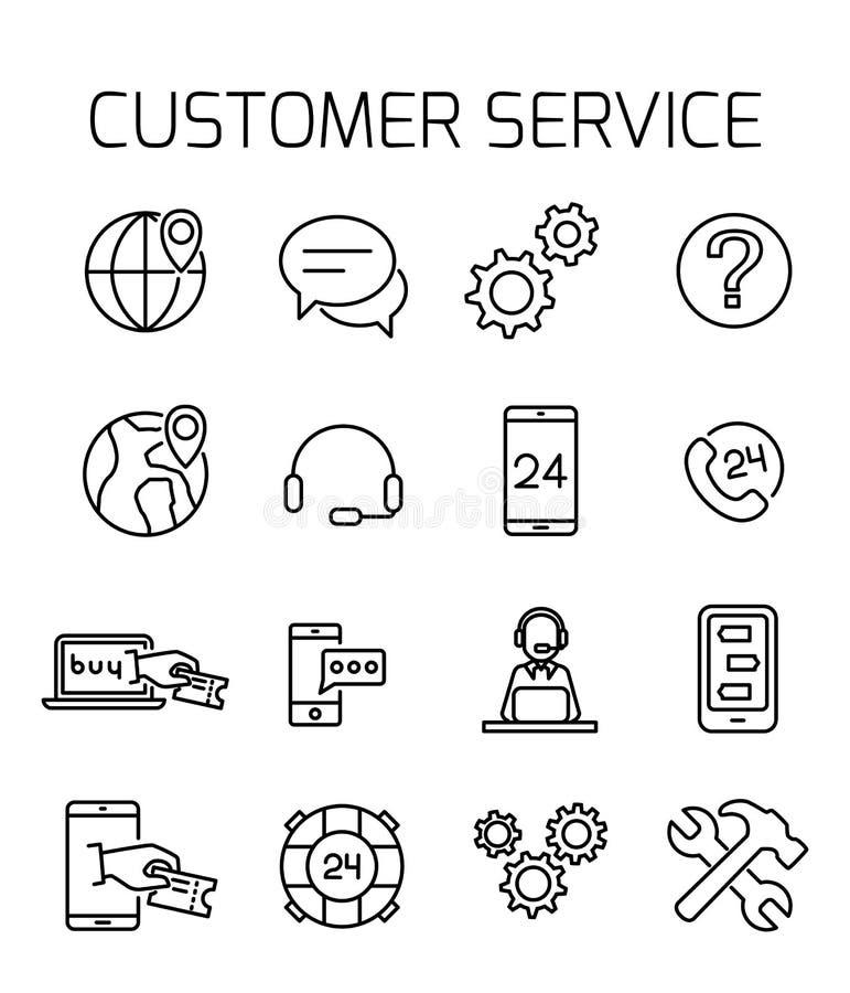 O serviço ao cliente relacionou o grupo do ícone do vetor ilustração royalty free