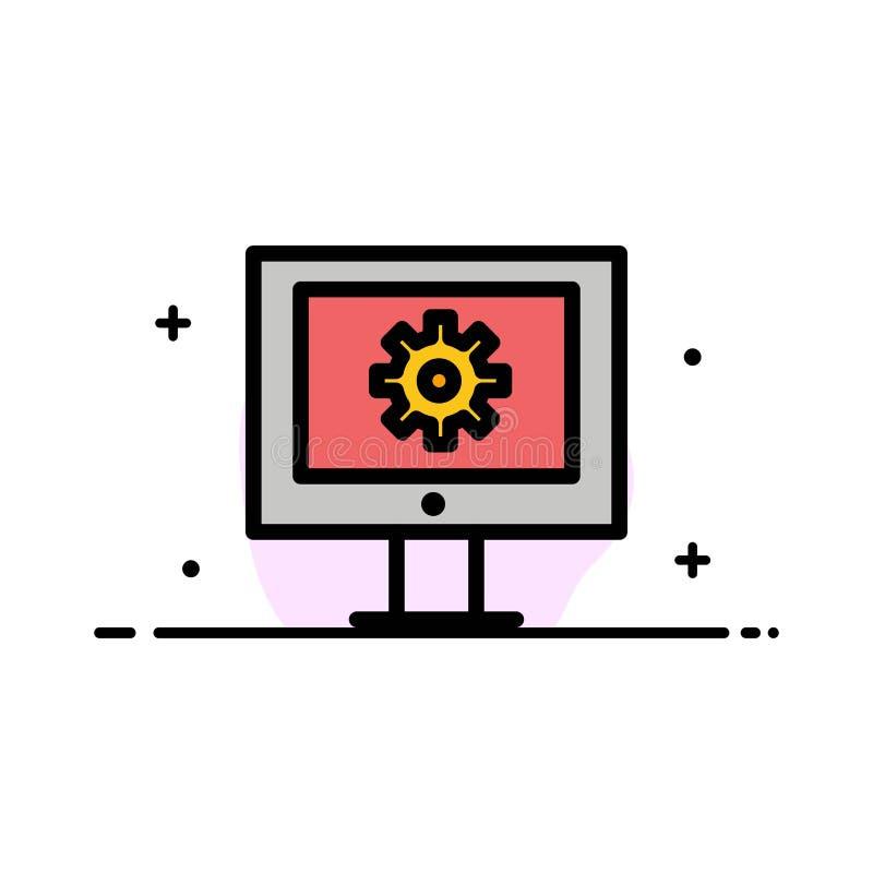 O serviço de assistência em linha, assistência técnica, suporte laboral, linha lisa do negócio da manutenção da Web encheu a band ilustração stock
