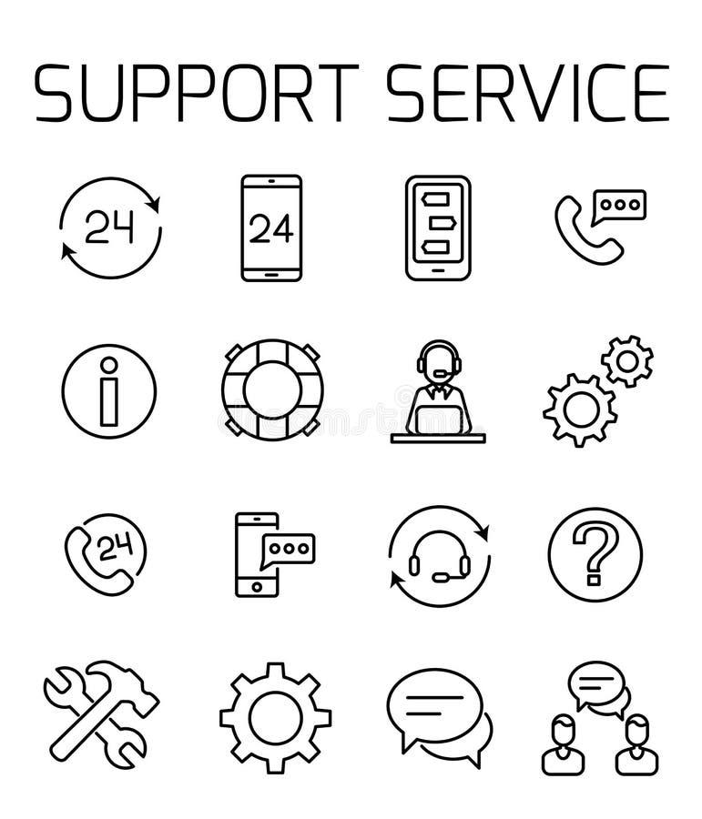 O serviço de assistência relacionou o grupo do ícone do vetor ilustração royalty free
