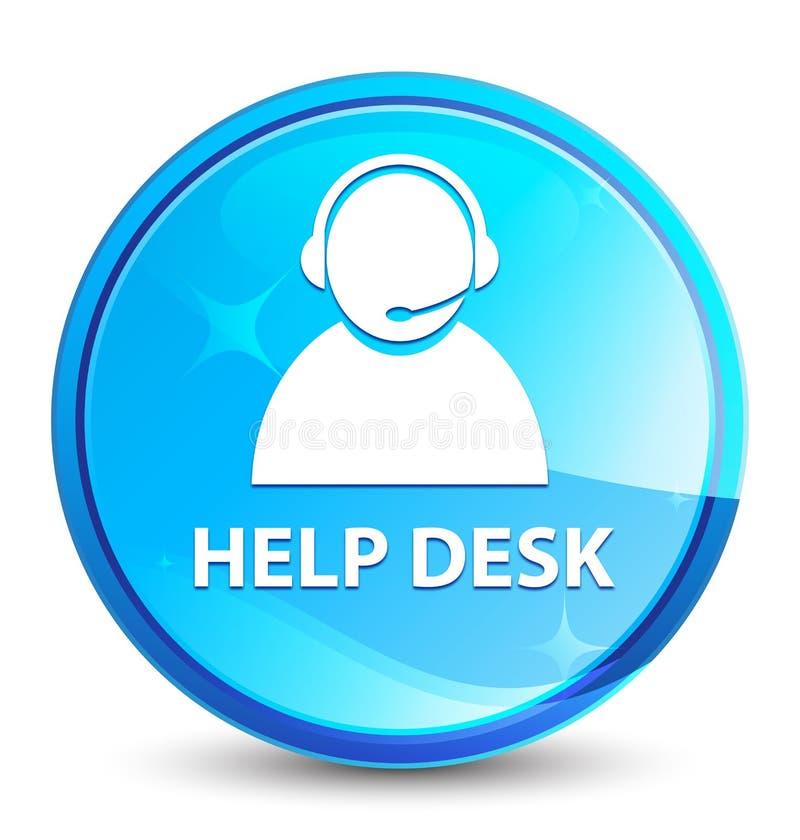 O serviço de atenção (ícone do cuidado do cliente) espirra o botão redondo azul natural ilustração royalty free