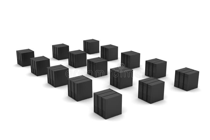 O servidor e os dados entram ilustração stock