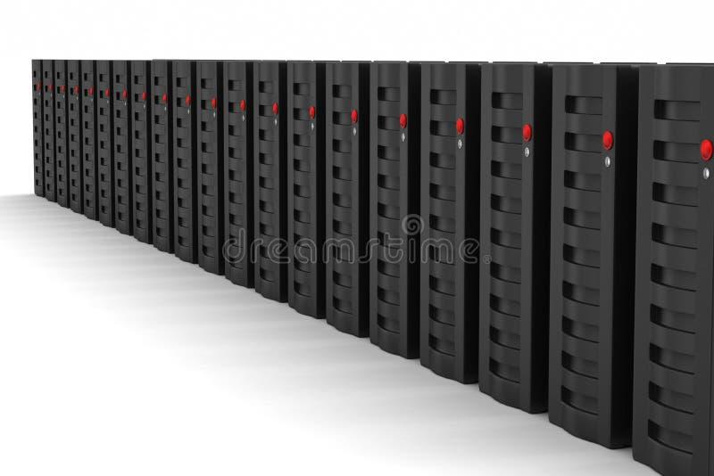 O servidor e os dados entram ilustração do vetor