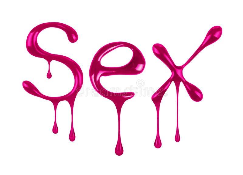 O sexo da palavra escrito pelo verniz para as unhas imagem de stock royalty free