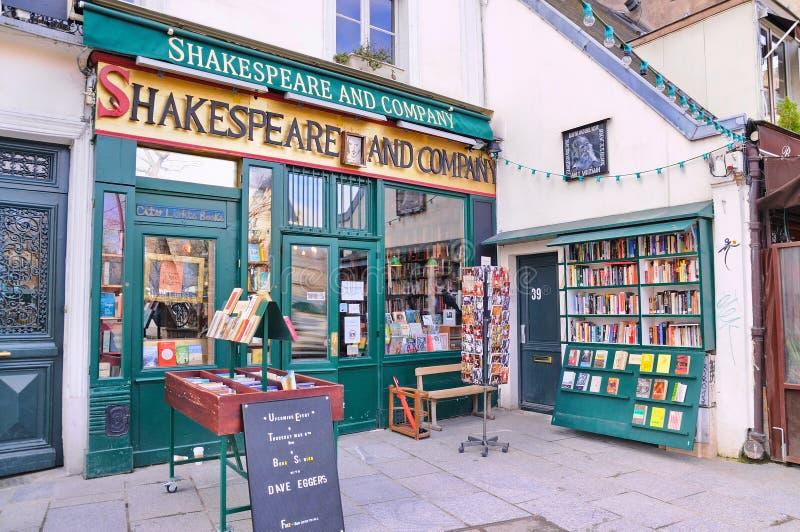 O Shakespeare famoso e livraria de Empresa fotos de stock royalty free