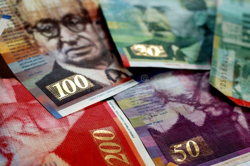 O shekel israelita fatura #3 imagens de stock