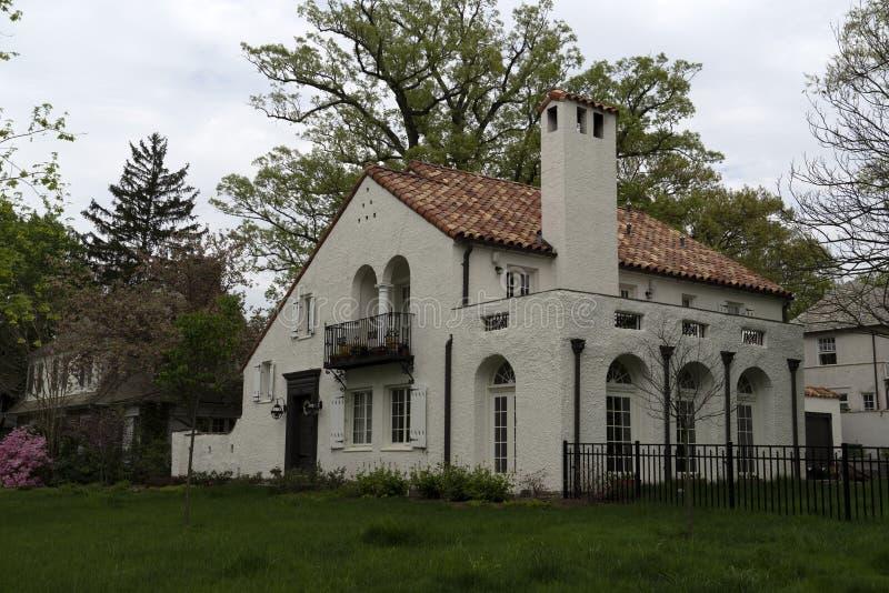 O sherwood de Baltimore jardina casas velhas imagem de stock