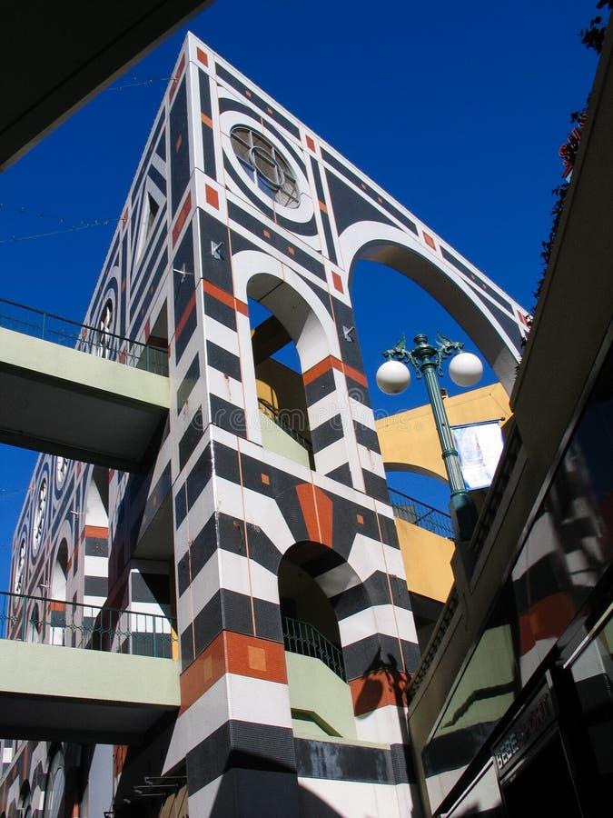 O shopping exterior de Westfield Horton Plaza imagem de stock royalty free