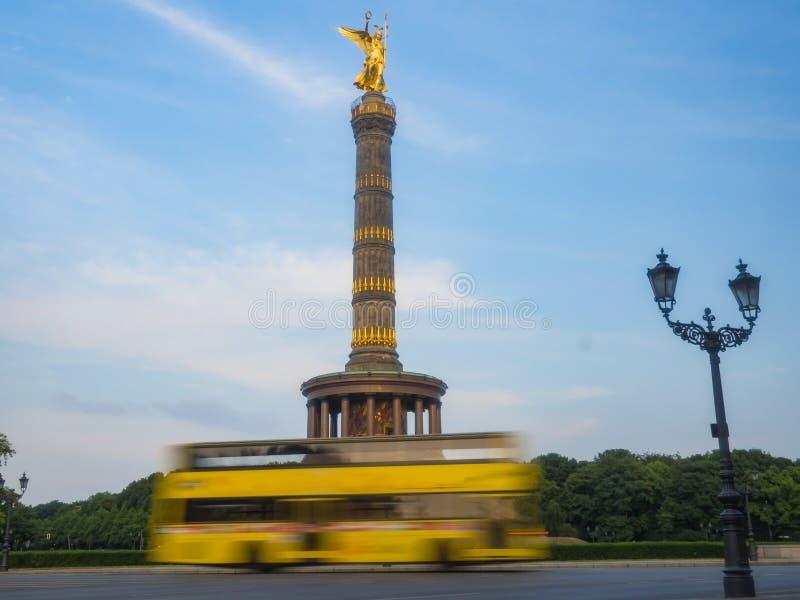 O Siegessaeule é Victory Column em Berlim fotos de stock royalty free