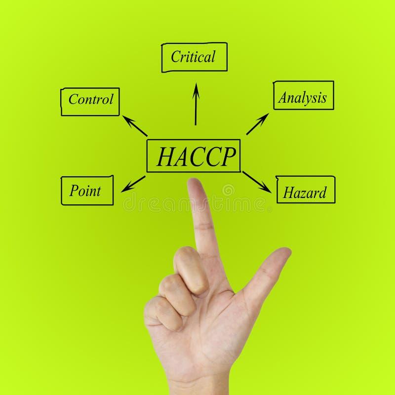 O significado do conceito de HACCP & do x28; Análise de perigo do controle crítico Points& x29; um princípio fotografia de stock royalty free