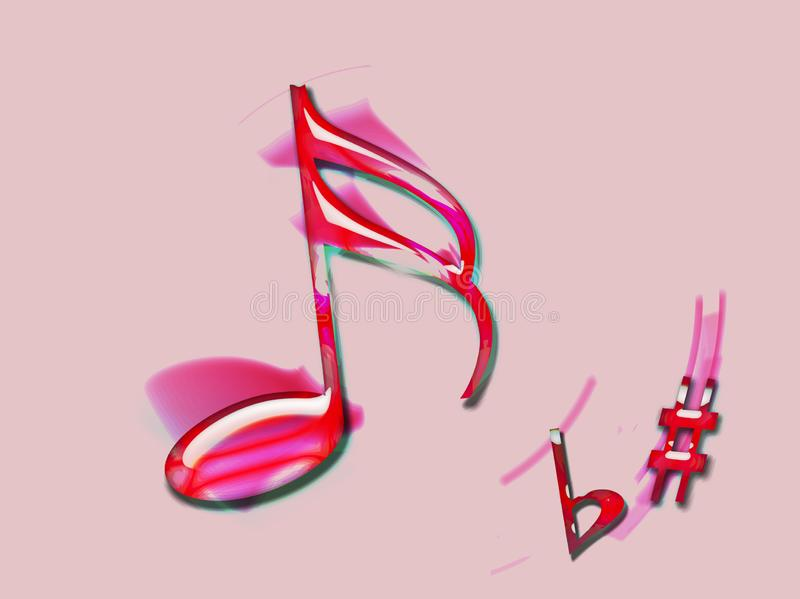 O simphony cor-de-rosa fotografia de stock royalty free