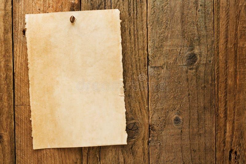 Sinal querido envelhecido rústico velho do vaqueiro no pergaminho imagem de stock