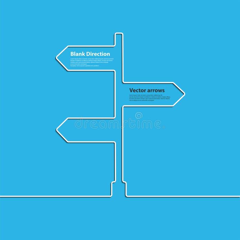 O sinal da seta do conceito de escolher o sentido da junção de estrada Vetor ilustração royalty free