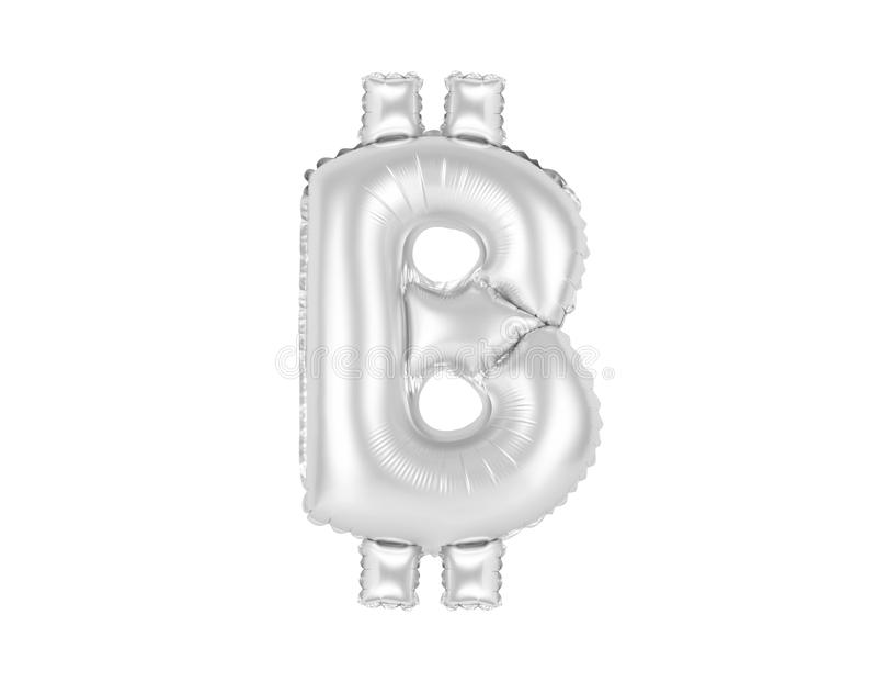 O sinal de Bitcoin, croma a cor cinzenta fotografia de stock royalty free