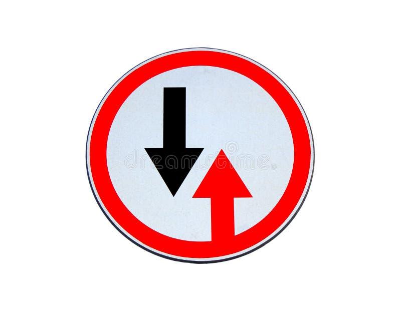 O sinal de estrada dá a prioridade isolada fotos de stock