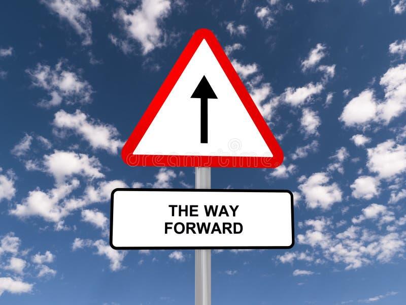 O sinal de estrada dianteiro da maneira imagens de stock royalty free