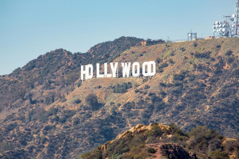 O sinal de Hollywood foto de stock royalty free