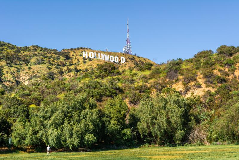O sinal de Hollywood fotos de stock