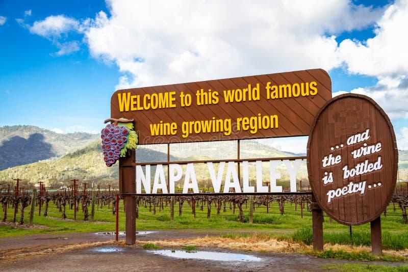 O sinal de Napa Valley imagem de stock royalty free