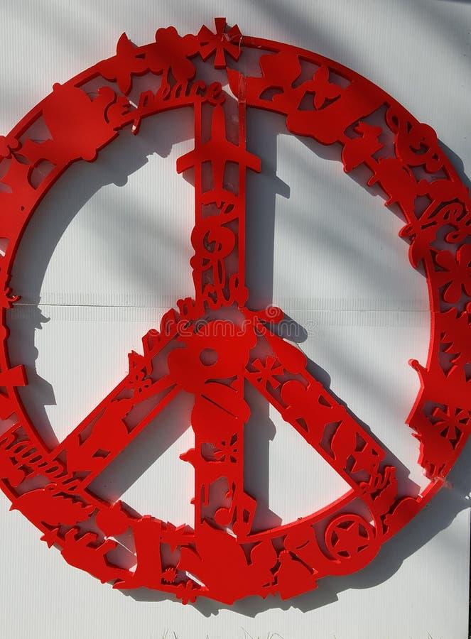O sinal de paz foto de stock royalty free