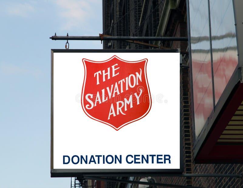 O sinal do exército de salvação. fotografia de stock