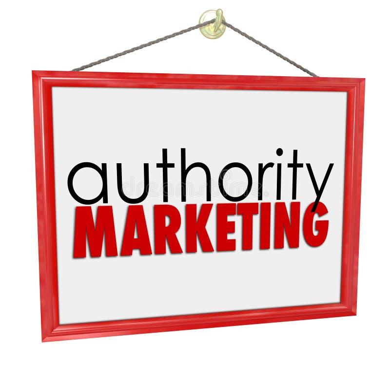 O sinal do negócio do mercado da autoridade promove sua experiência Knowled ilustração do vetor