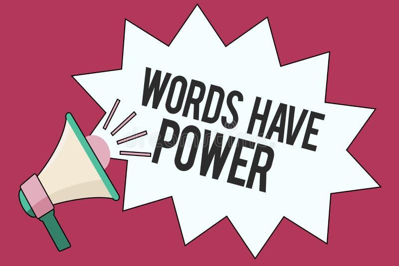O sinal do texto que mostra palavras tem o poder Capacidade conceptual da energia da foto para curar humilde impedido ajuda e par ilustração do vetor
