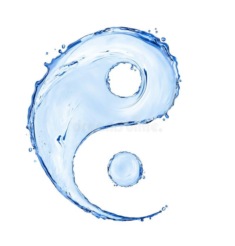 O sinal do yin yang feito com água espirra imagem de stock royalty free