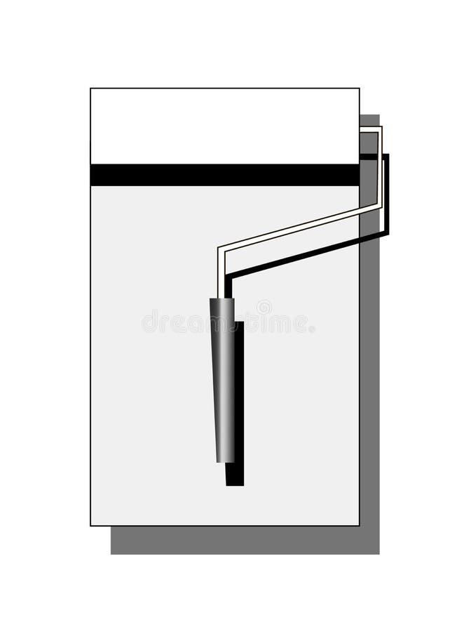O sinal liso de construção do rolo pinta o branco no cinza isolado ilustração lisa do jogo ilustração royalty free