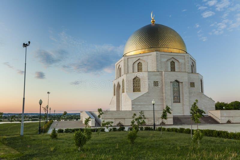 O sinal memorável a adoção do Islã na cidade antiga Bolgar Kazan, Tartaristão, Rússia fotografia de stock