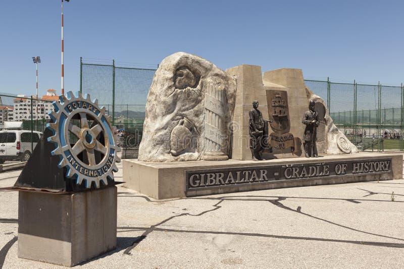 O sinal memorável Gibraltar - o berço da história gibraltar imagem de stock