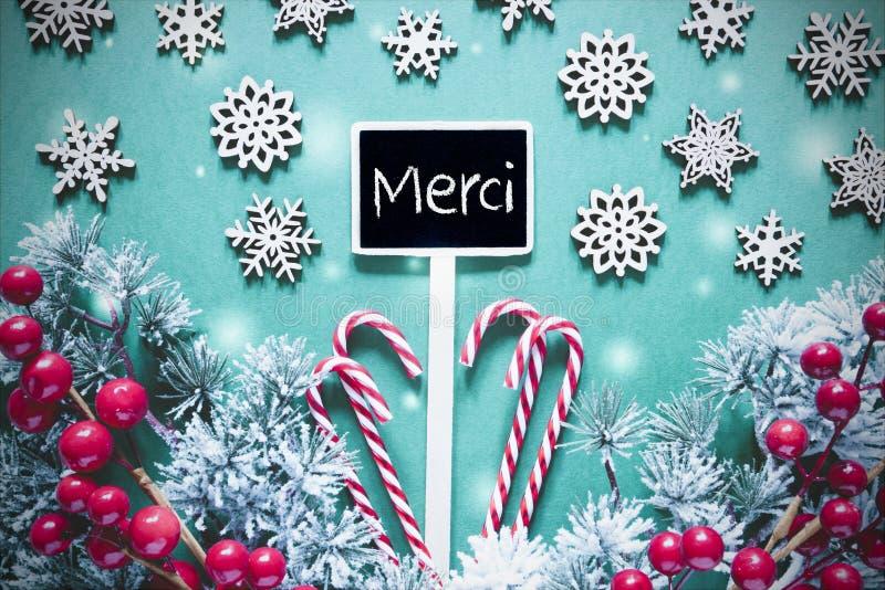 O sinal preto do Natal, luzes, Frosty Look, meios de Merci agradece-lhe fotos de stock