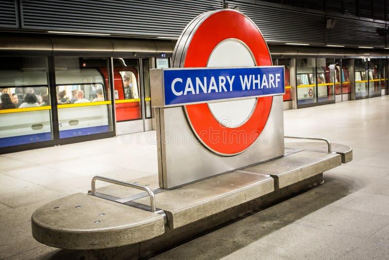 O sinal subterrâneo de Londres foto de stock