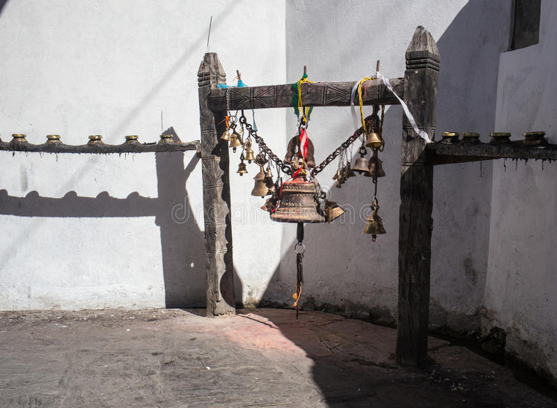 O sino ritual fotografia de stock