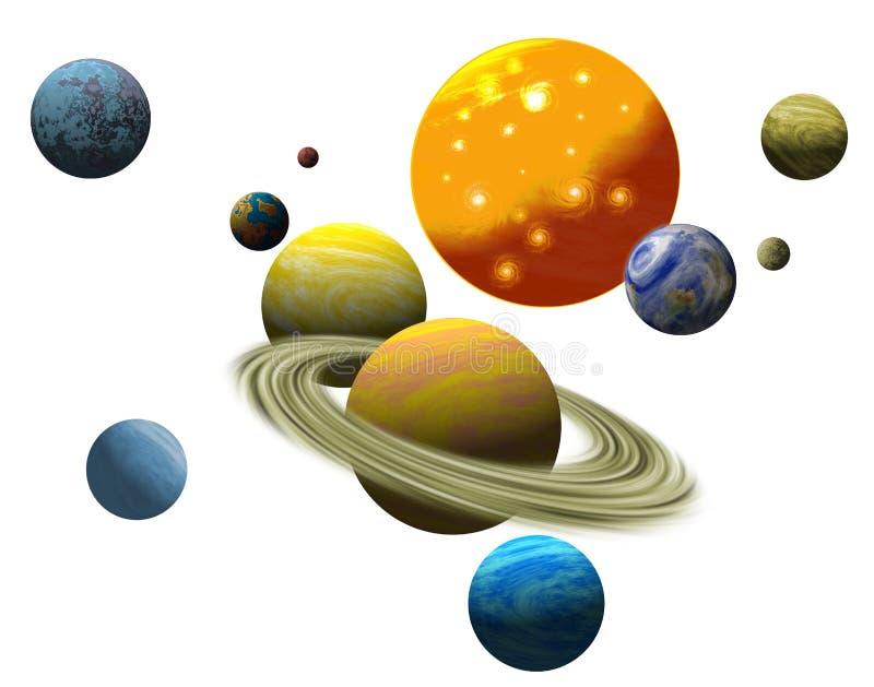 O sistema solar planetário ilustração do vetor