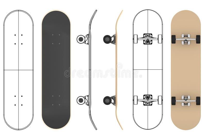 O skate ilustração royalty free