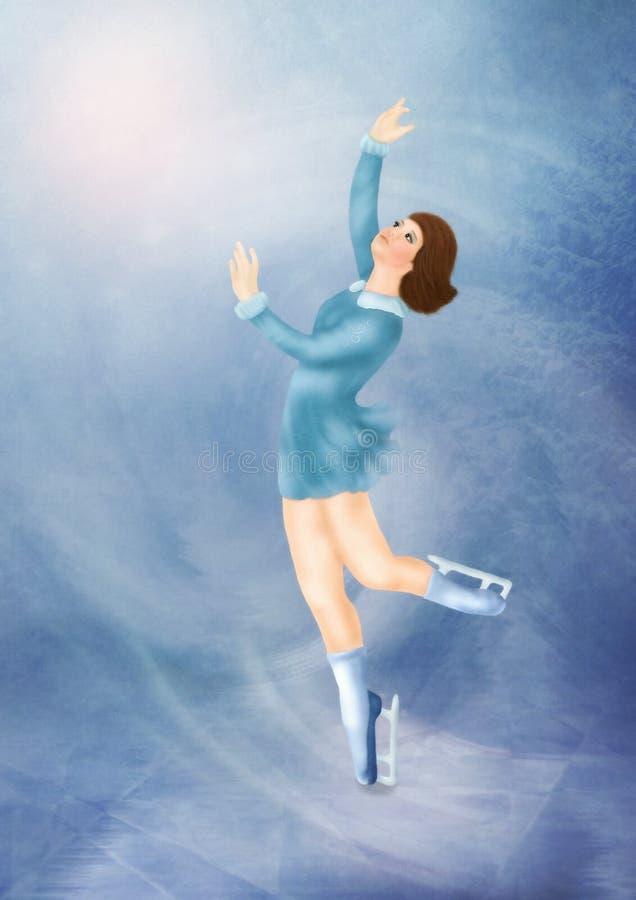 O skater novo ilustração stock