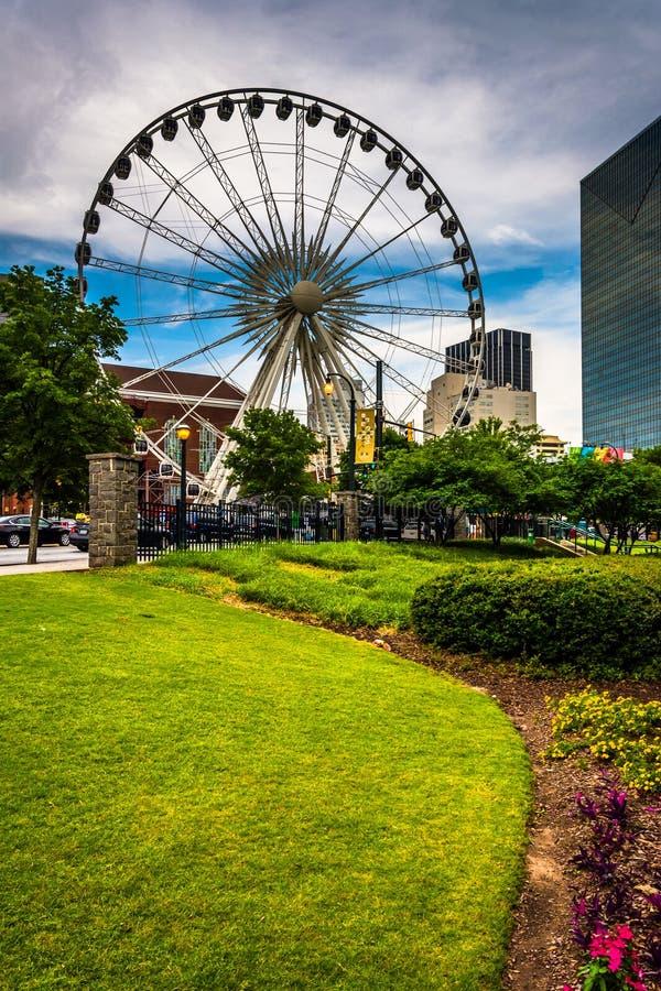 O Skyview em Atlanta do centro, Geórgia fotografia de stock