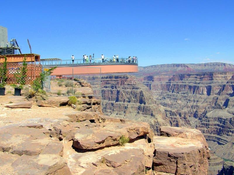 O Skywalk, borda ocidental de Grand Canyon NP, o Arizona foto de stock