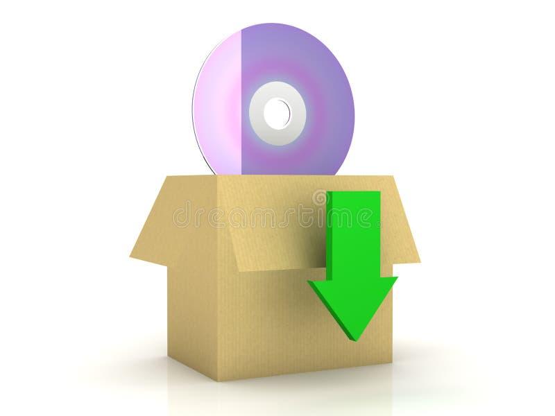 O software instala o pacote ilustração royalty free