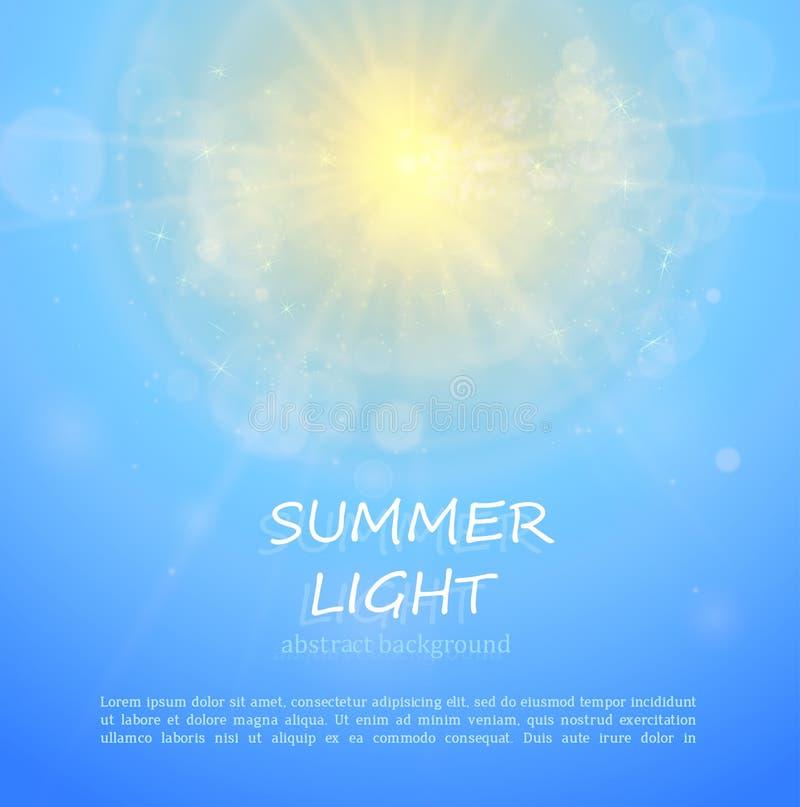 O sol brilha brilhante no ver?o ilustração stock