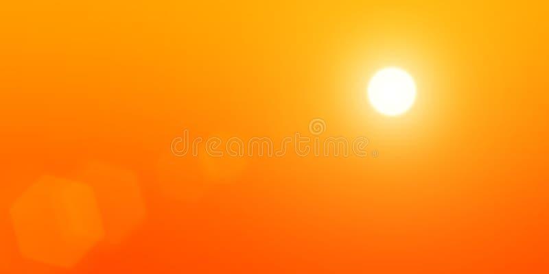 O sol est? no c?u ilustração royalty free