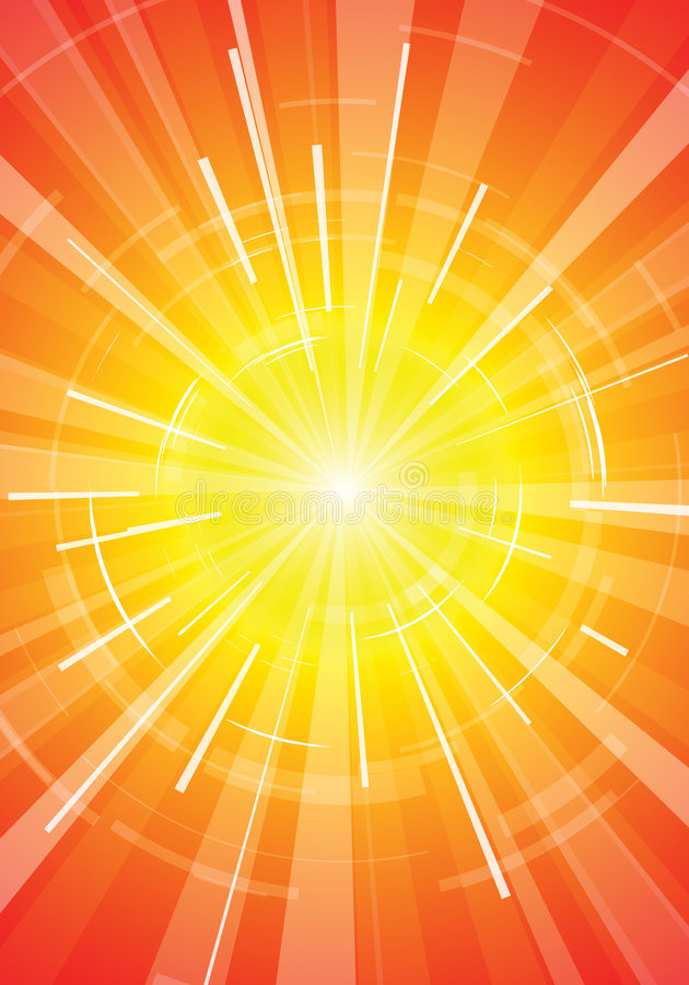 O sol quente do verão ilustração stock