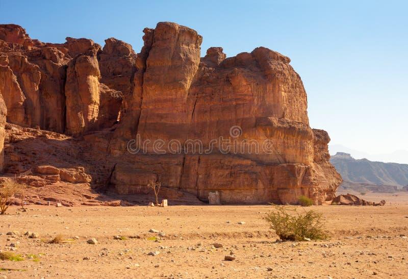 O Solomon& x27; característica Geological das colunas de s do parque de Timna, Israel foto de stock royalty free