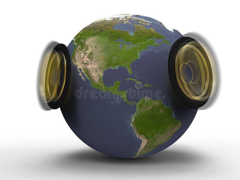 O som da terra do planeta ilustração royalty free