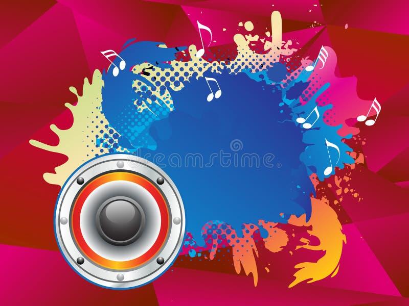 O som musical colorido abstrato explode ilustração do vetor