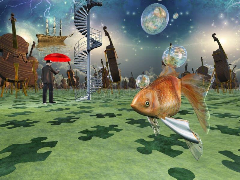 O sonhador ilustração stock