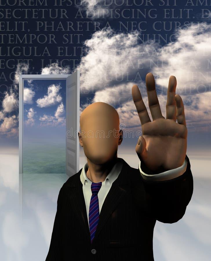 O sonho dos sonhadores ilustração do vetor